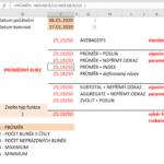 Excel - dynamický výběr oblasti dat pro výpočty