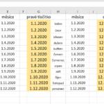 Excel - vkládání kalendářních a textových řad
