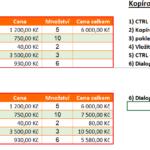 Excel - 6 způsobů kopírování vzorce