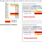 Excel - podmíněné formátování - pořadí podmínek