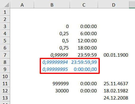 Excel - formátování času